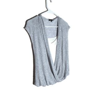 Ella Moss Gray/silver top with cami attached